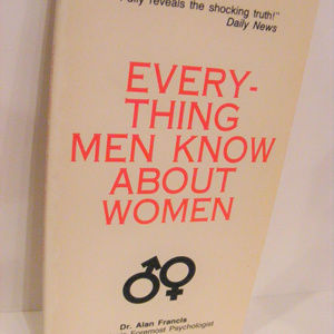 EVERYTHING Men know about women Book(book isBlank)